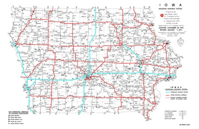 Iowa Map With Highways.Iowa National Highway System Map 2012 Iowa Publications Online