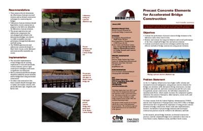 Precast Concrete Elements for Accelerated Bridge