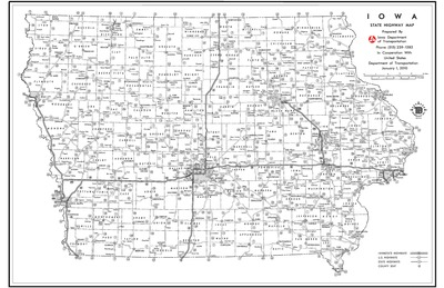 Iowa State Highway Map January Iowa Publications Online - Us highway map pdf