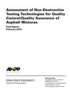 Assessment of Nondestructive Testing Technologies for