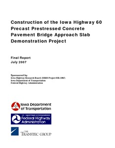 Construction of the Iowa Highway 60 Precast Prestressed