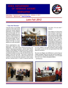 Iowa Department of Veterans Affairs, Late Fall 2010 - Iowa Publications Online