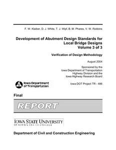 Development of Abutment Design Standards for Local Bridge