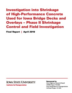 Investigation into Shrinkage of High-Performance Concrete